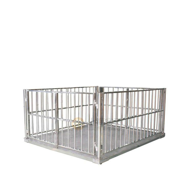 不锈钢带打印电子畜牧秤 2*3米带围栏畜牧地磅